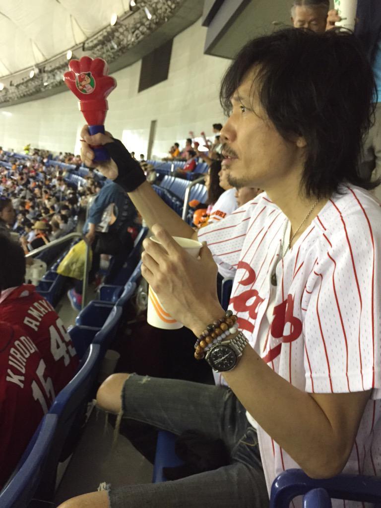 カープ with ウエノコウジ  #東京ドーム #ウエノコウジ #広島 #カープ #黒田 http://t.co/yOETPCXIUW