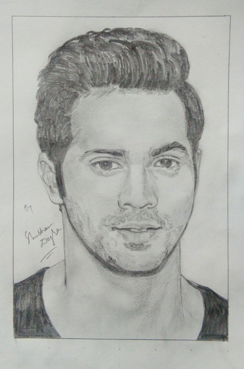 MSDian Shubham Dogra On Twitter U0026quot;@Varun_dvn Your Sketch By Me ) #bollywood #VarunDhawan #ABCD2 ...