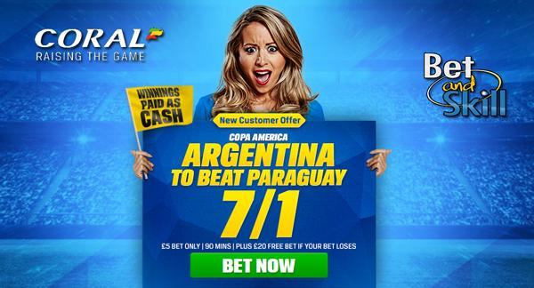 Argentina 7/1 to win