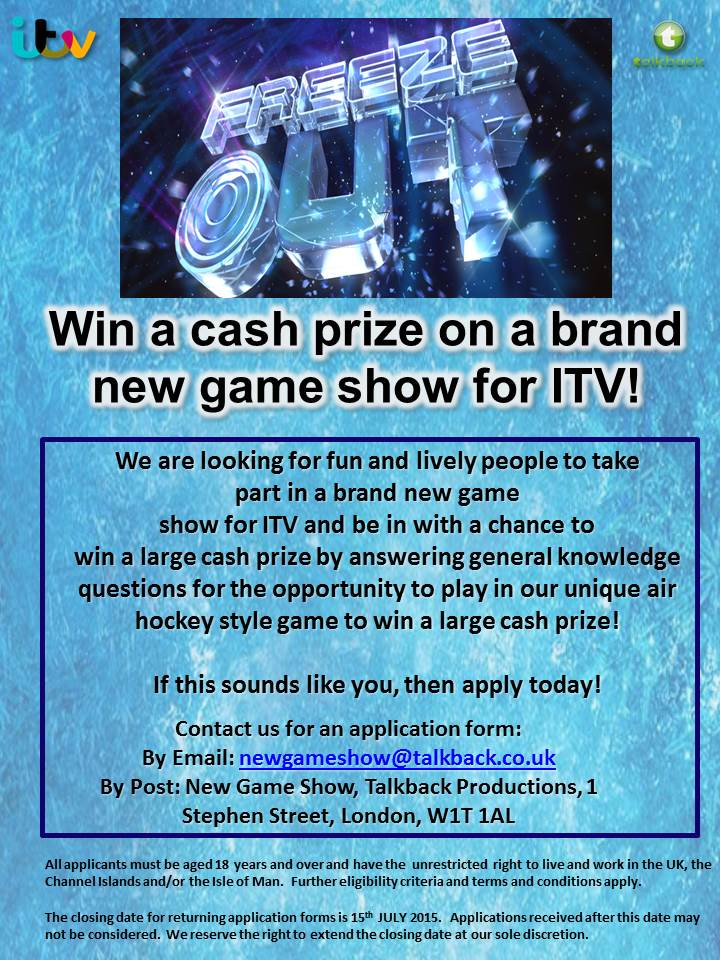 How can you apply to become a game show contestant?