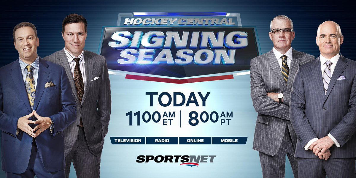 Sportsnet On Twitter Live Today Don T Miss A Moment Snhockeycentral Signing Season Tune In On Sportsnet Sportsnet One Http T Co 4dzgwooryo