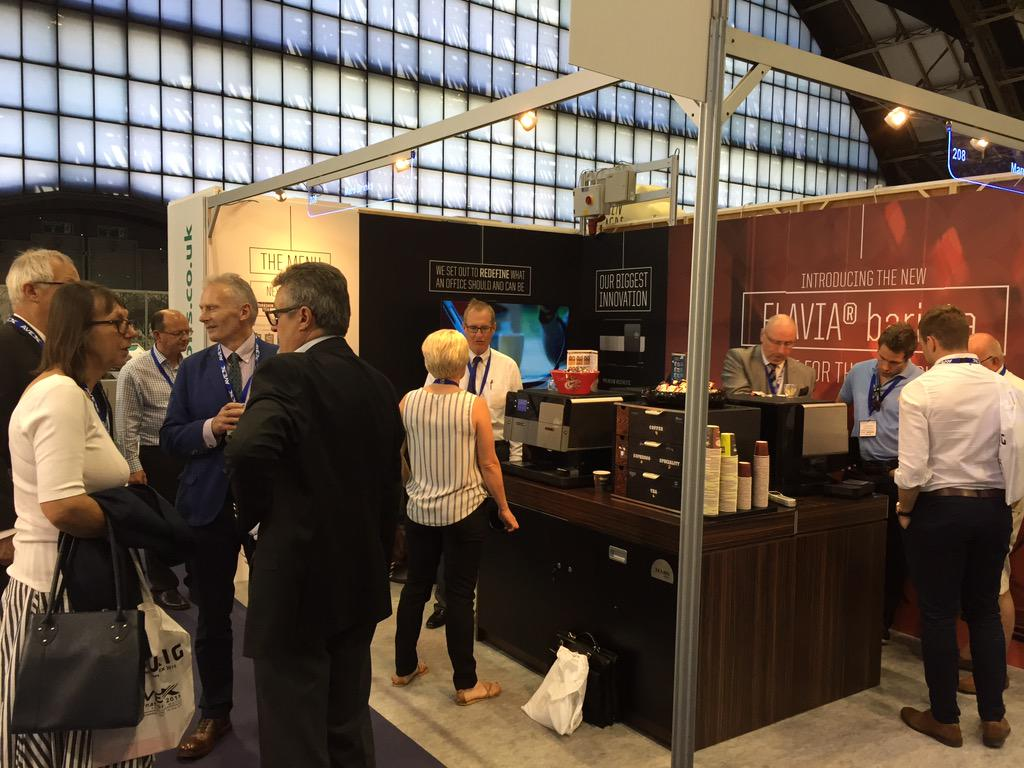Great start to @AVEX2015 #AVEX2015. We're on stand 208 today showcasing our new barista and @TaylorsCoffee brands http://t.co/QG8BfXF5GP