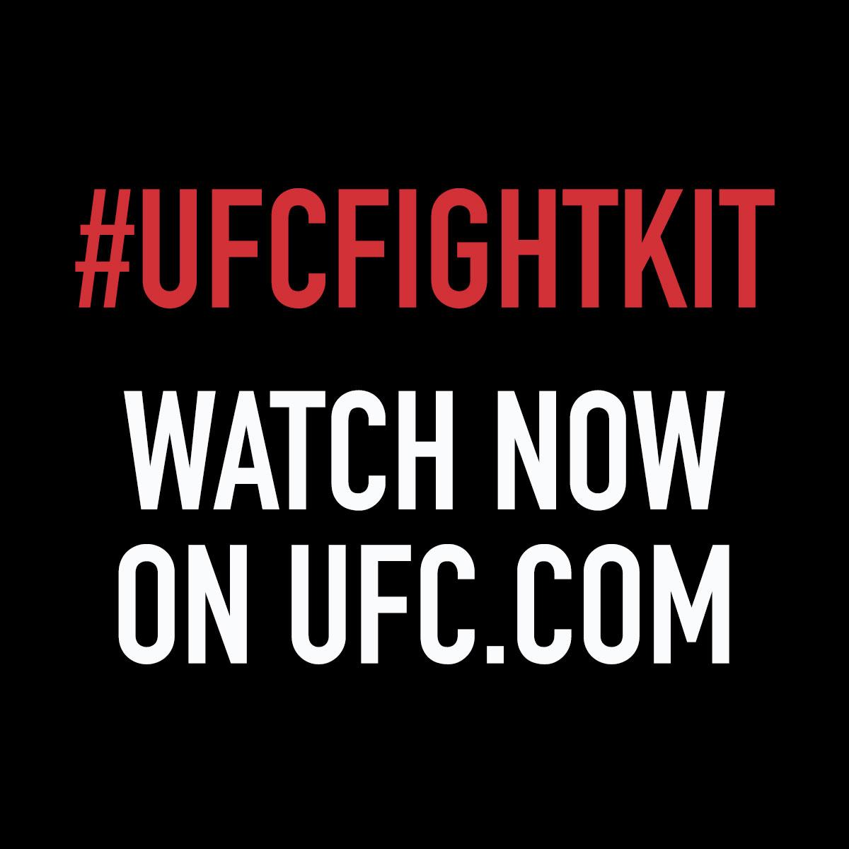RT @ufc: The #UFCFightKit unveil is LIVE NOW! Watch here: http://t.co/XyXjEVtbfa http://t.co/E2oPyG1a4i