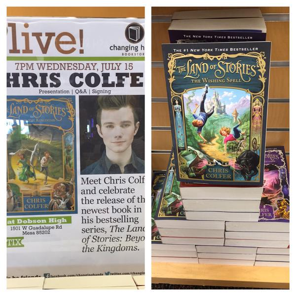 Arizona #glee Gleeks! We're bringing @chriscolfer to town with his new LAND OF STORIES novel: http://t.co/FSBRYSmLbJ http://t.co/cgQm1w33At