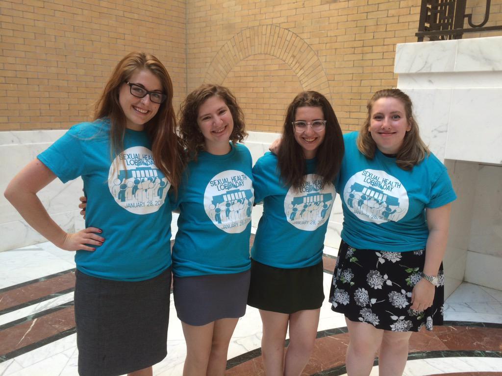 NARAL interns @BlairUsedom & others modeling fabulous #SHLobbyDay tshirts! http://t.co/23a6ajp9v7