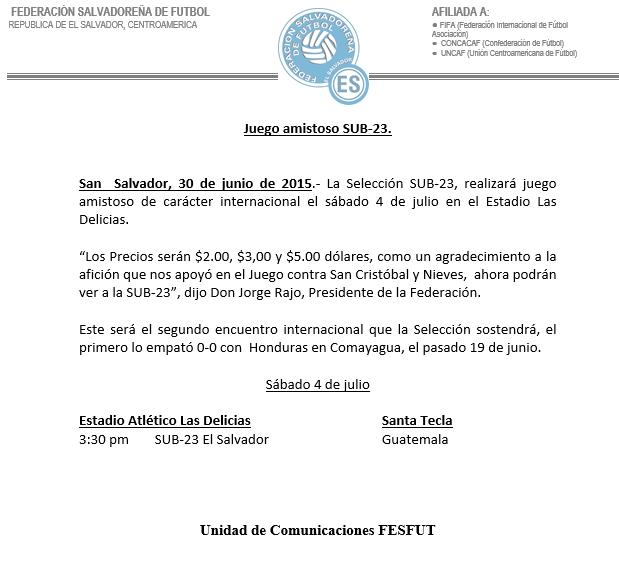 Actividades de La Seleccion en Junio y Julio del 2015. CIwTprJUAAAf6mb