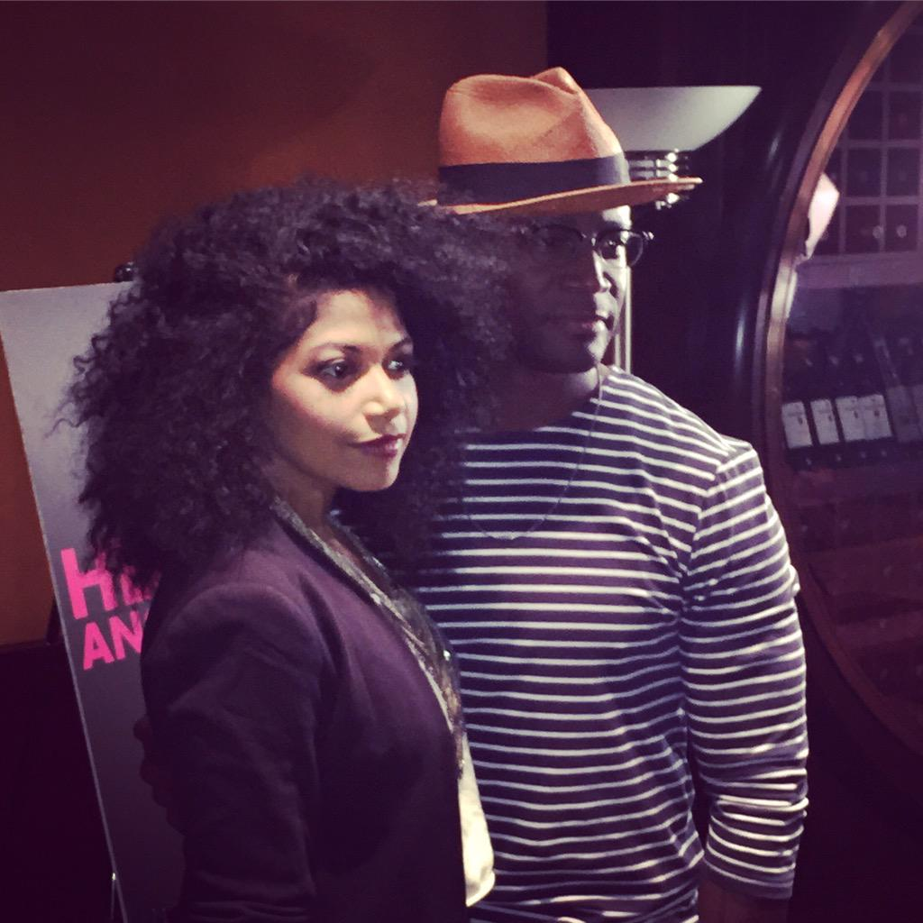 Broadway's newest #Hedwig - @TayeDiggs ... alongside his Yitzhak - @Rebeccasername... @HedwigOnBway http://t.co/YkM0HZEiFS