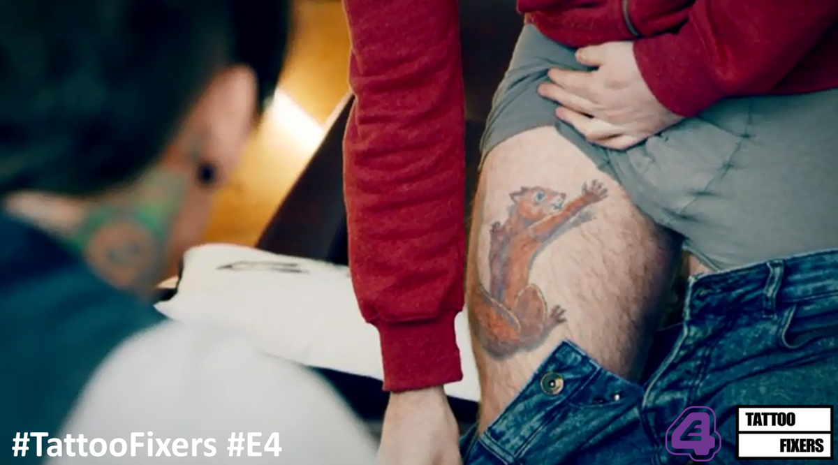 Tattoo Fixers Extreme On Twitter Its A Squirrel Reaching For His