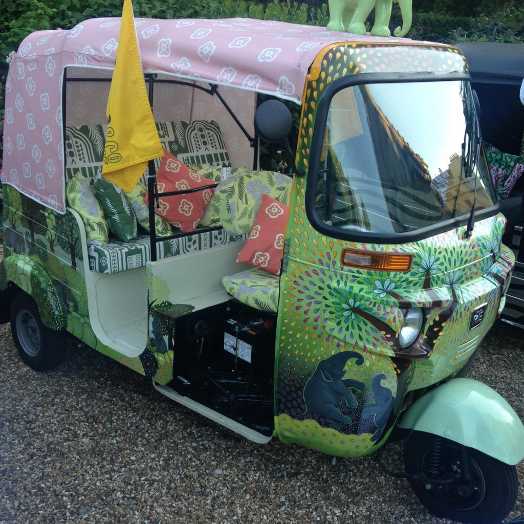 Our Tuk Tuk. Wonderfull eve! @ClarenceHouse @elephantfamily @Q_LDN #TravelsToMyElephant http://t.co/vfQwQ3Vyo5