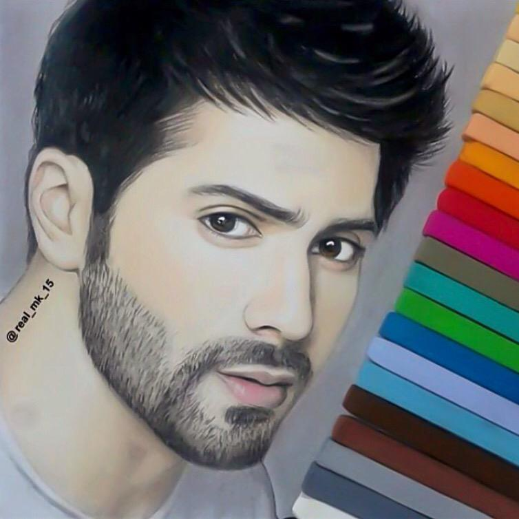 Varun dhawan fc ✨ on twitter super awesome fan made sketch of varun dvn 😍💜 http t co tqztrvv8np