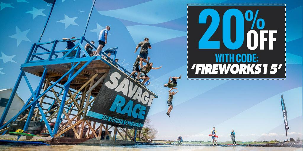 Savage Race deal - 20% off with code FIREWORKS15