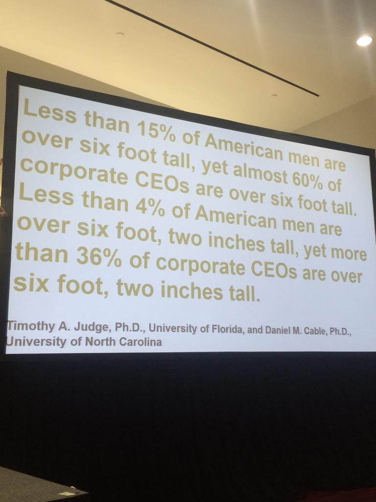 """The war for height, not talent"" @joegerstandt #SHRM15 #SHRM15Blogger #bias http://t.co/JezePMHcBF"