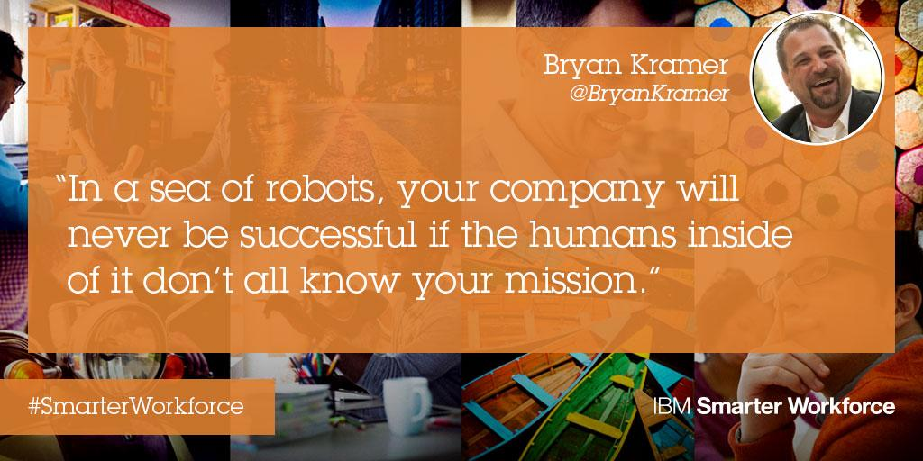 Your company will never succeed if the humans inside don't know your mission @bryankramer #SHRM15 #SmarterWorkforce http://t.co/O0MyGfuTwo
