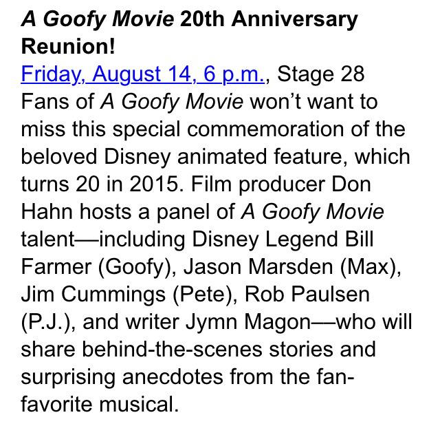 @JasonMarsden @GoofyBill darn, now I really wish I could come to D23 this year. Sounds like it'll be a fun panel. http://t.co/52NifeY01x