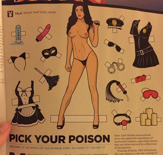 The cartoon model in the @Playboy magazine  this month kinda looks like me!!!!! #Playboy #StefanieKnight