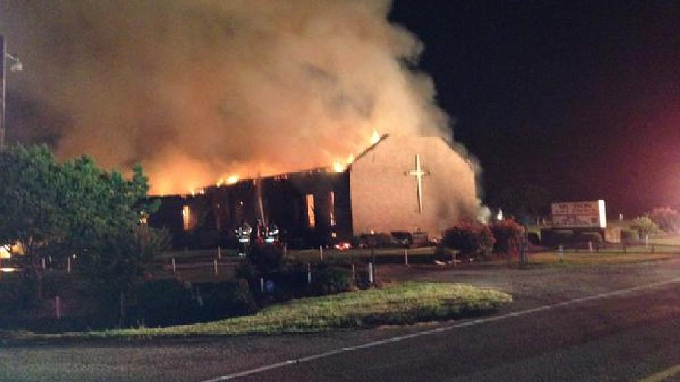 Lightning caused fire at Mount Zion AME Church