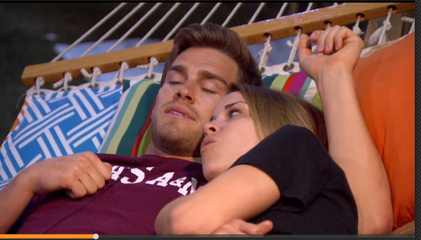 Another cute shot of Shelli and Clay from earlier yesterday @ShelliPooleBB17 #BB17 http://t.co/7I0JWelGrI