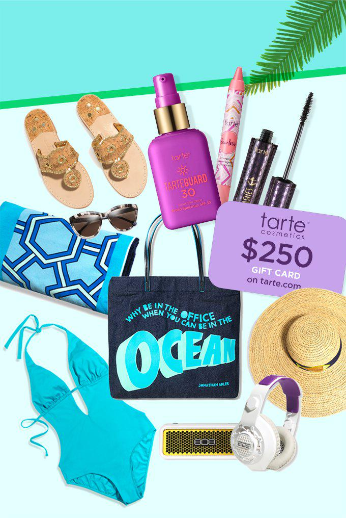 Get beach chic ready when you win these #summersentials from the @tartecosmetics  contest: http://t.co/XqEFquysMa http://t.co/95FWbzqEyg