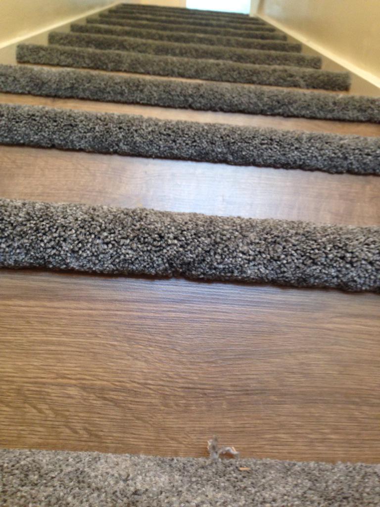 Brian king flooring on twitter more half carpet half laminate stairs - Refurbish stairs budget ...