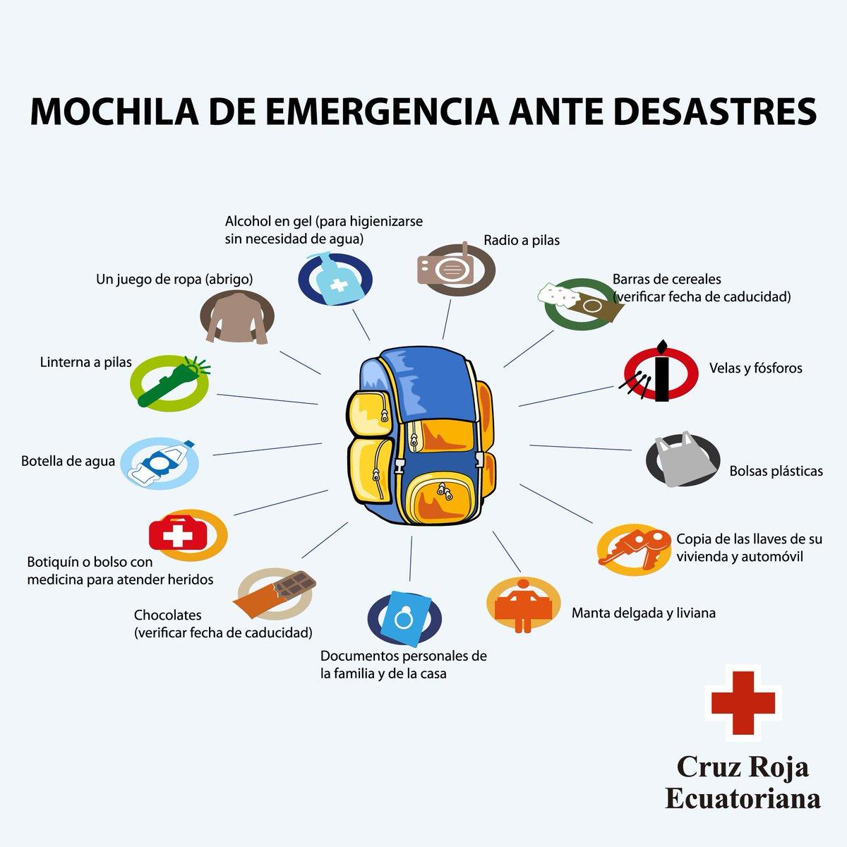 #Cotopaxi Conoce los implementos básicos que debe tener tu mochila de emergencia ante desastres. Dale RT #Importante http://t.co/rt3AGlYFaA