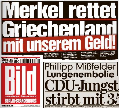 Glück gehabt: Merkel nimmt die Milliarden von Springer.