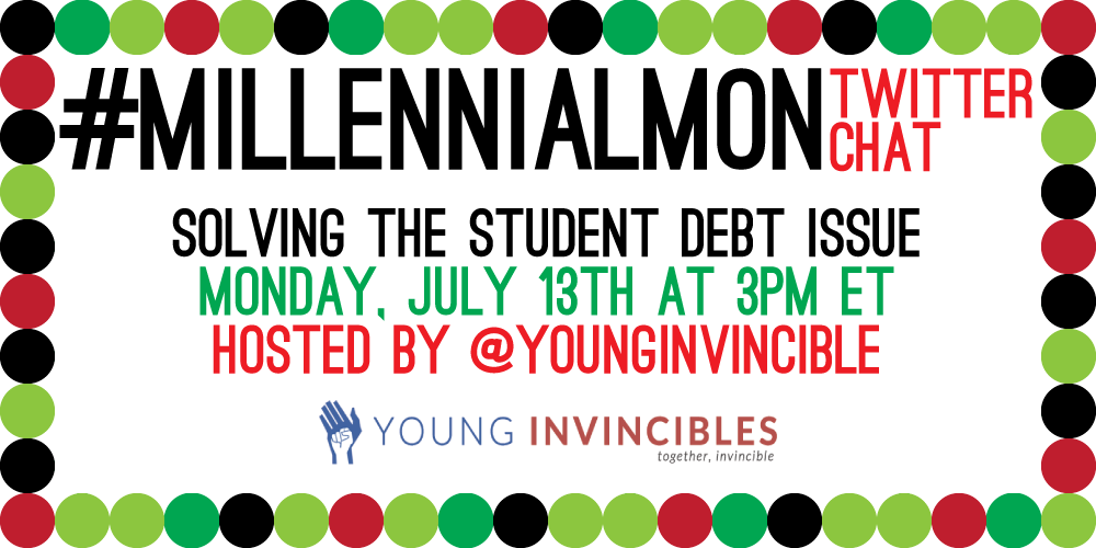 #MillennialMon starts in just 15 minutes! Make sure to tweet @YoungInvincible & use #MillennialMon and #SecretLives! http://t.co/P4lhG3Qdwb