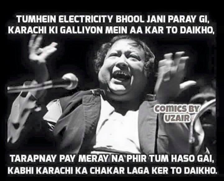 For all my Bijlee sey sataye friends out here. #Karachi #Epic #Pakistan #LolMoments http://t.co/dEzLdKh5Ap