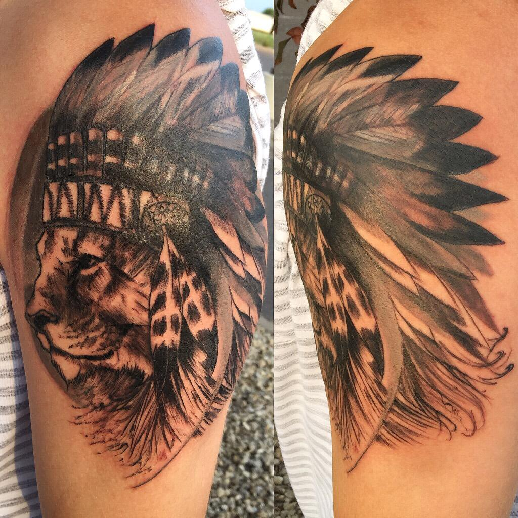 Dave Wick A Twitteren Lion Headdress Tattoo Just Completed On
