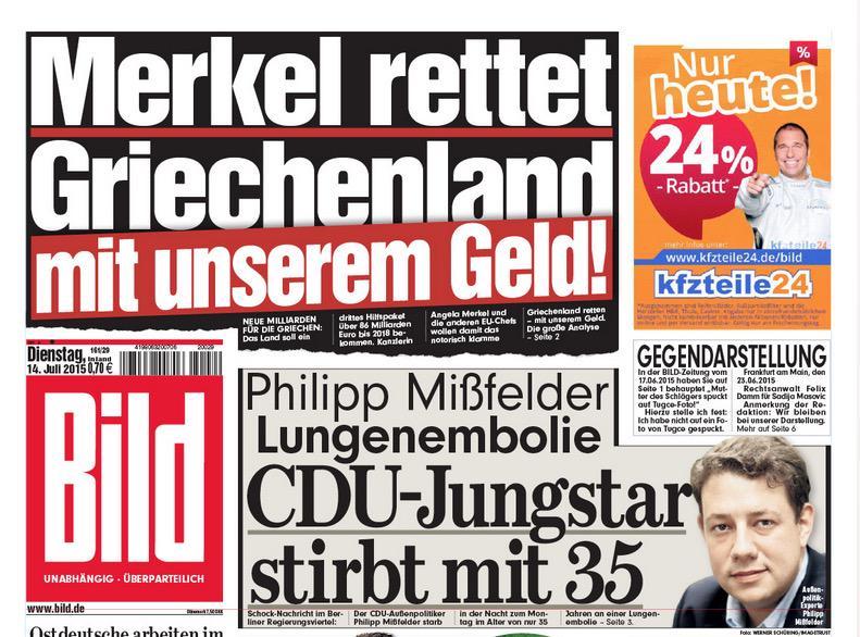 Merkel Saves Greece Money Bild Guten Morgen Liebe Sorgen