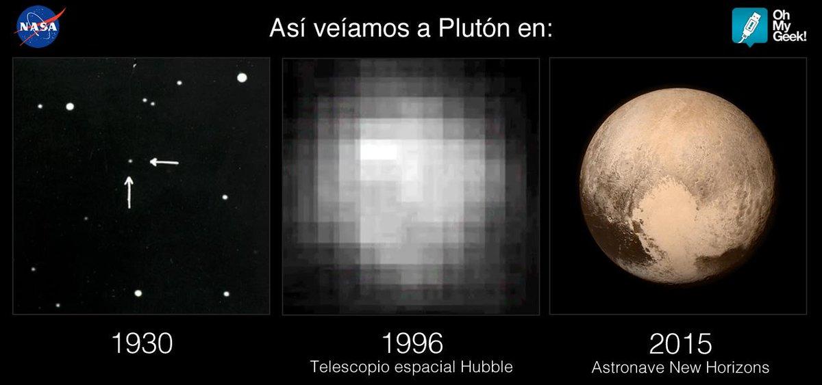 Así veíamos a Plutón en 1930, 1996 y hoy. http://t.co/mvD7gk0dxh