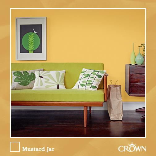 Crown paints on twitter yellow rooms invoke happiness - Crown paint colours for living room ...