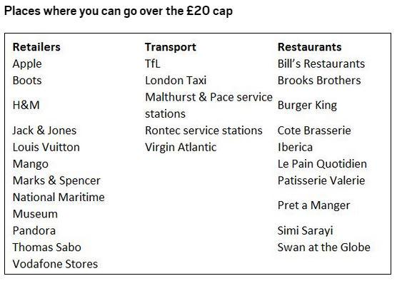 Places where you can go over the £20 cap with #ApplePay http://t.co/EkwlfA2Q3d