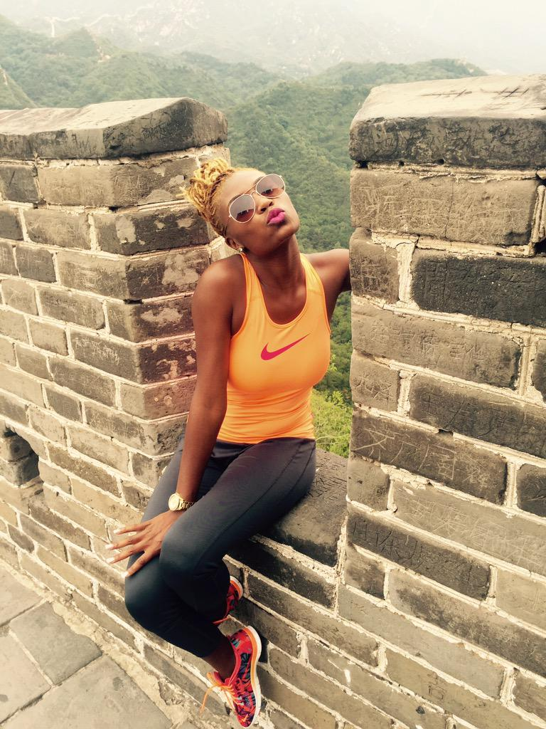 When you finished Climbing the Great Wall of China feeling so accomplished #Bestbirthday #studyabroad http://t.co/JGT6y14AKC