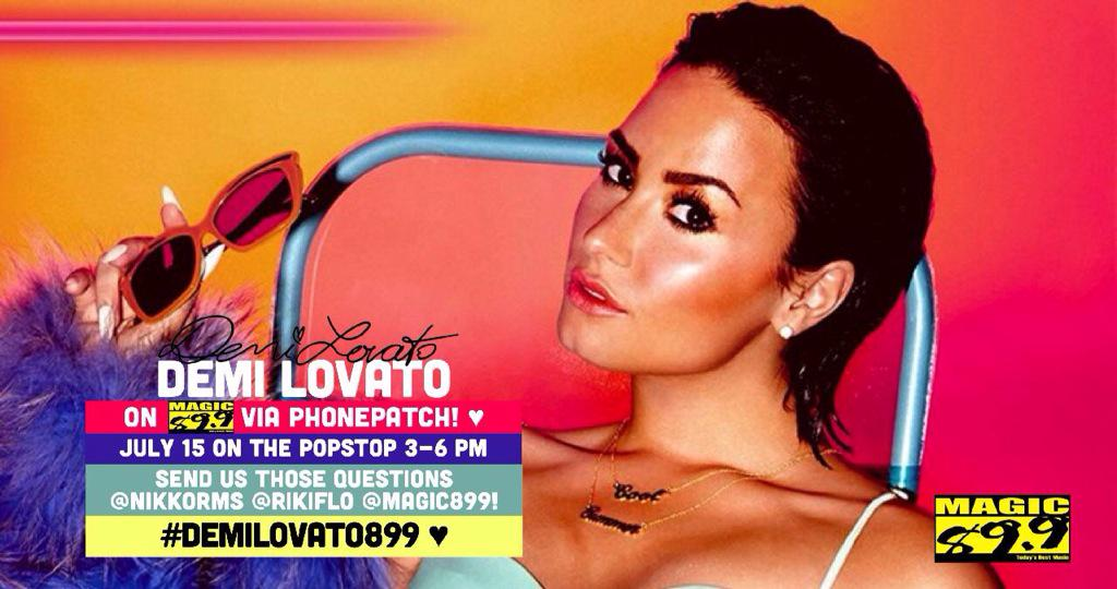 Guess who's giving the station a call tomorrow? You got it! @ddlovato on @Magic899 #DemiLovato899 #EverythingsMagic http://t.co/Qyo47b3ZBA