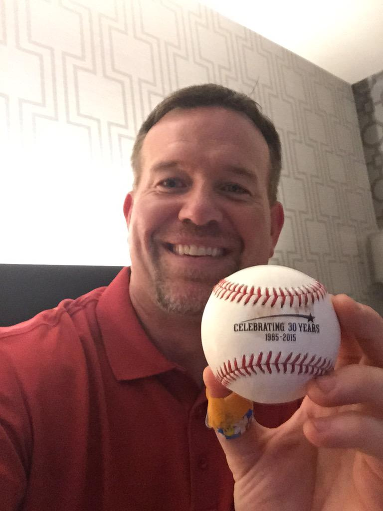 Great derby last night @FlavaFraz21! Thx @BringerOfRain20 for my 1st ever foul ball! So great being back in the Nati! http://t.co/T14g5jhJR3