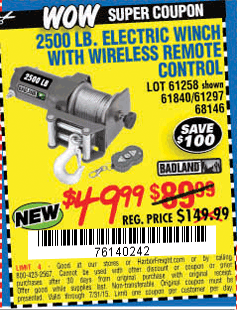 harbor freight tools on twitter save 100 on this 2500 lb atv rh twitter com