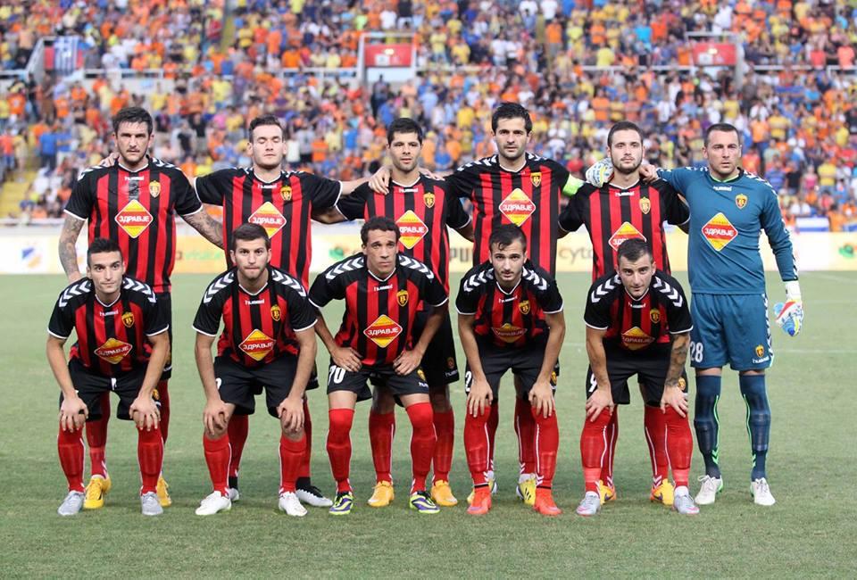 Vardar's starters; photo: 24sports.com.cy