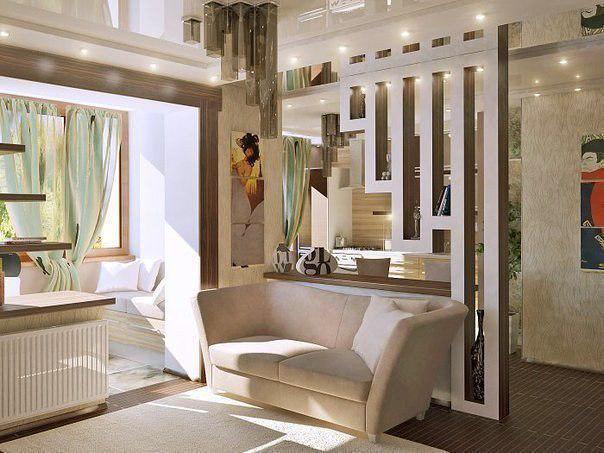 декоративная перегородка в коридоре фото
