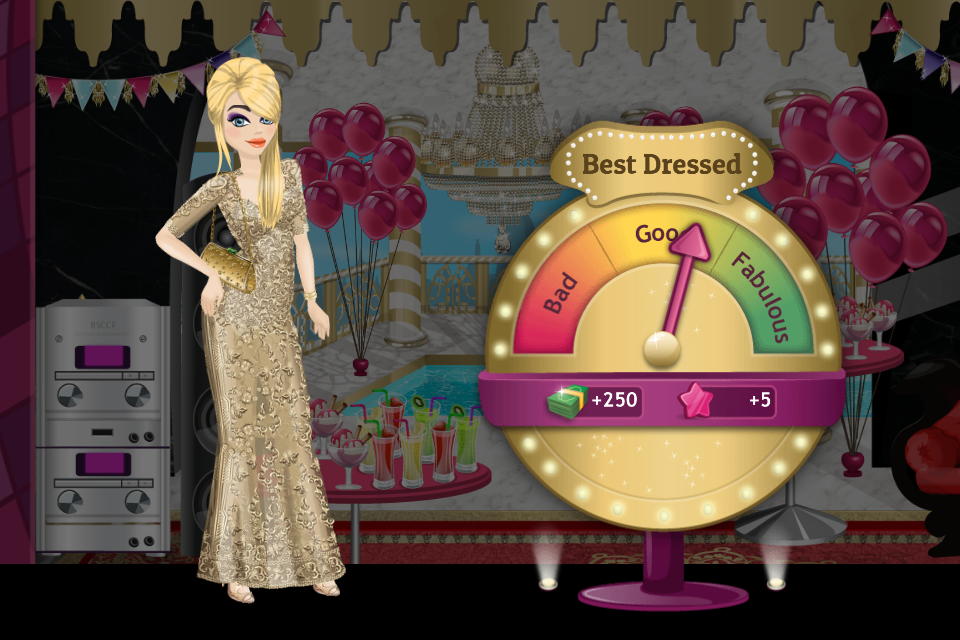 Oh, wow! It seems I'm the best dressed at the party! #SUPERSTARLIFE https://itunes.apple.com/us/app/superstar-life/id747977899?mt=8 …