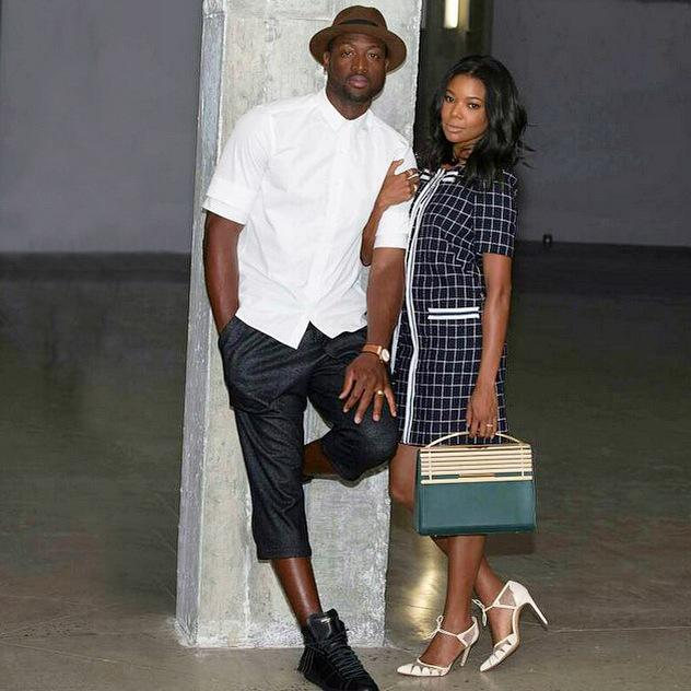 Gabrielle Union carries the Eddie Borgo Colt Satchel in Evergreen calf leather with Blonde hardware | @itsgabrielleu http://t.co/UOQE6zW6nf