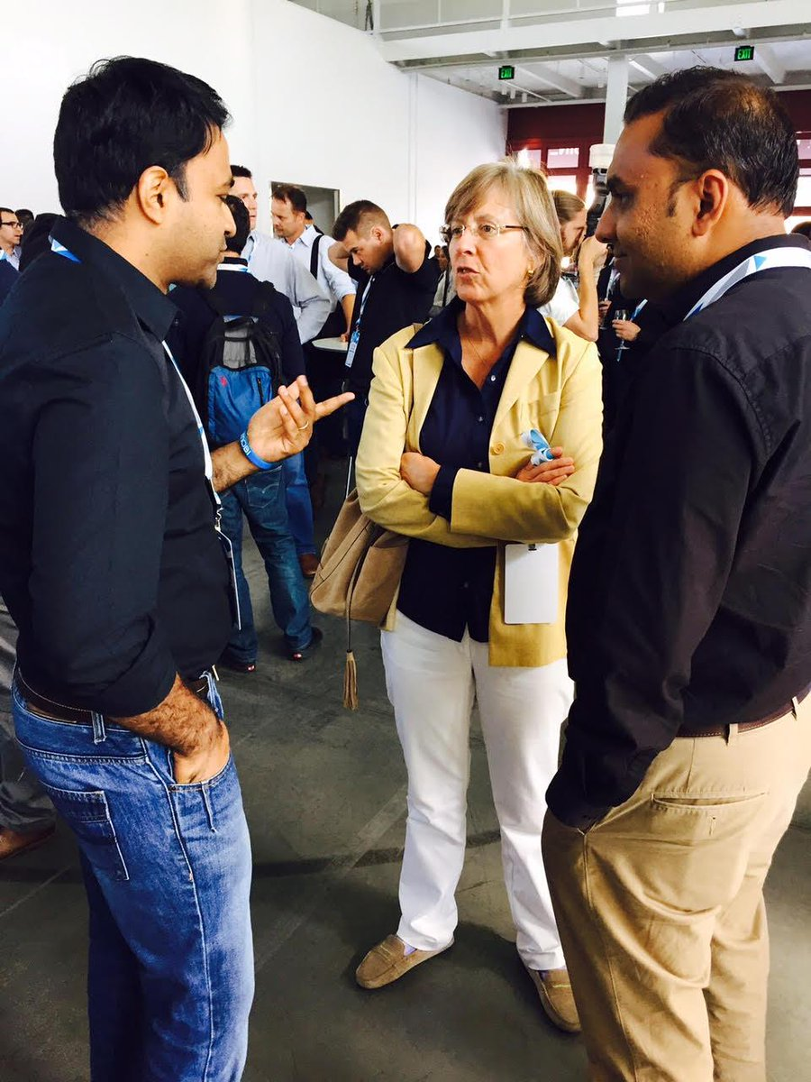 Excited to have Mary Meeker from @kpcb attending the #InMobiReimagine event! http://t.co/nxjFLr5rgM