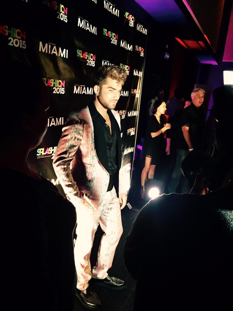 #SPLASHION2015 Miami Modern Luxury Magazine Adam Lambert  And the food by yours truly. @joneillmiami wows them again. http://t.co/0nlL4KFIQ9
