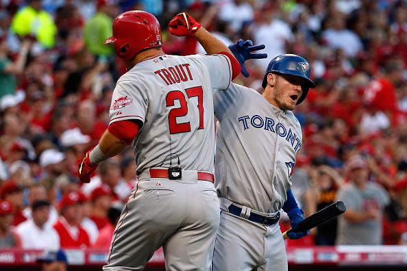 Mike Trout's first ABs at the last 4 All-Star games.  2012: Single 2013: Double 2014: Triple 2015: HR http://t.co/QczSiGrSqF