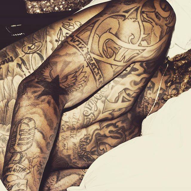 All Wiz Khalifa Tattoos Meanings Amber Rose Face Etc