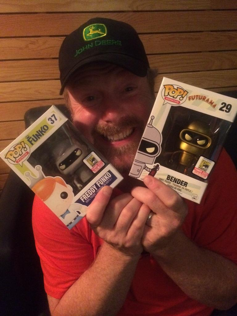 D'awwwwww. Dat face. Hope @TheJohnDiMaggio enjoys his toys. Or at least makes a good buck on them! http://t.co/IRZe5aWyaG