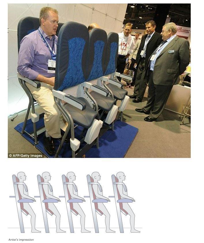 새로 개발된 이코노미석 의자라는데 노예수송함? ㅋㅋㅋㅋ 의자만 없으면 뒷사람 무릎에 앉아있는 간격 헐 http://t.co/J9ciDvDquw