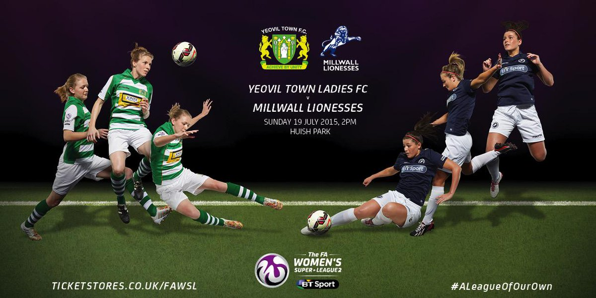 Yeovil Town Ladies vs Millwall Lionesses - This Sunday at Huish Park!