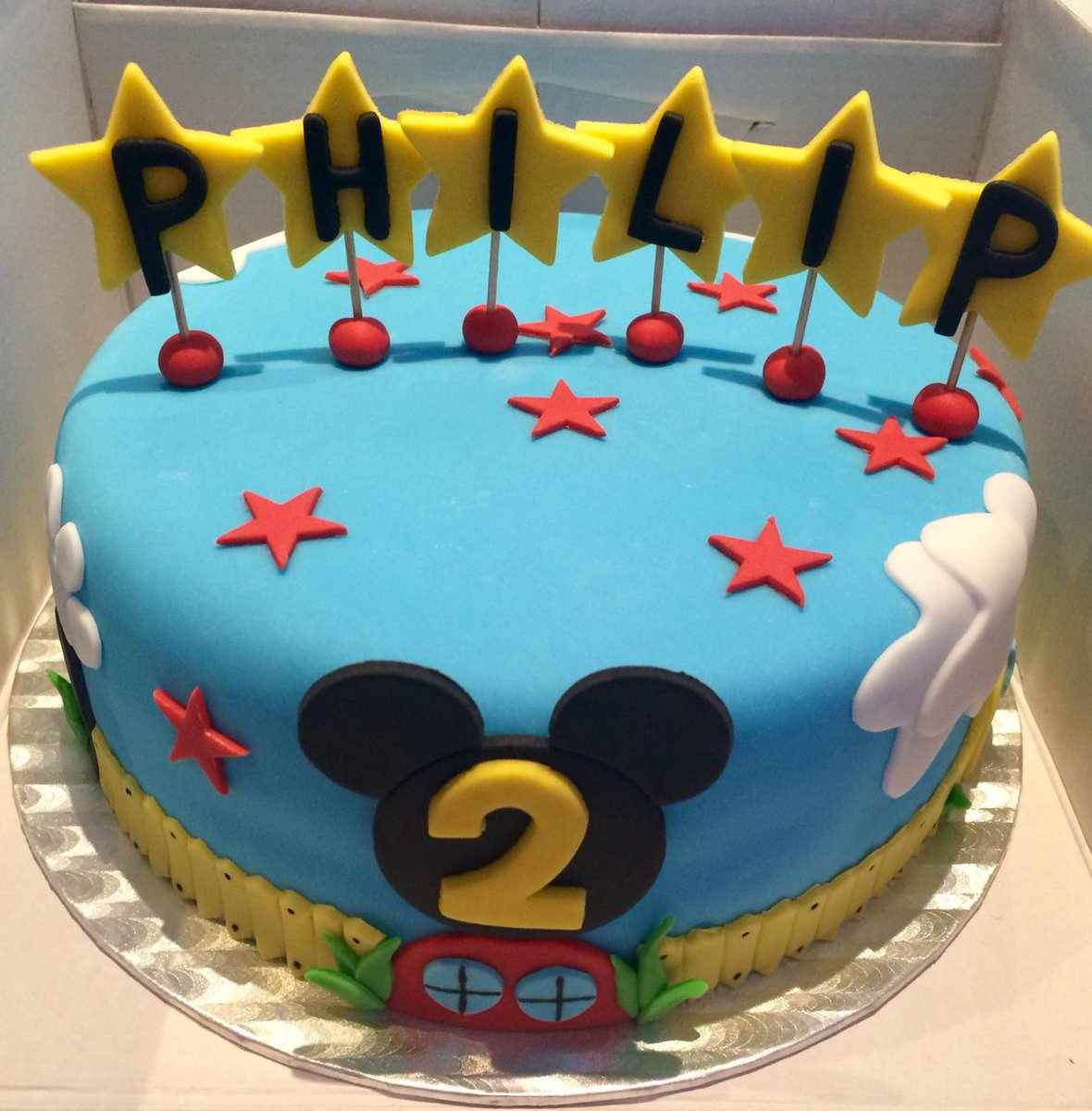 Fine Alice In Cakeland On Twitter Mickeymouse Clubhouse Cake For A Personalised Birthday Cards Veneteletsinfo