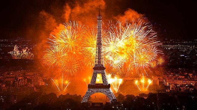 Новогодний салют в Париже - новый год в Париже, зима в Париже, куда поехать зимой во Францию, что посмотреть зимой во Франции