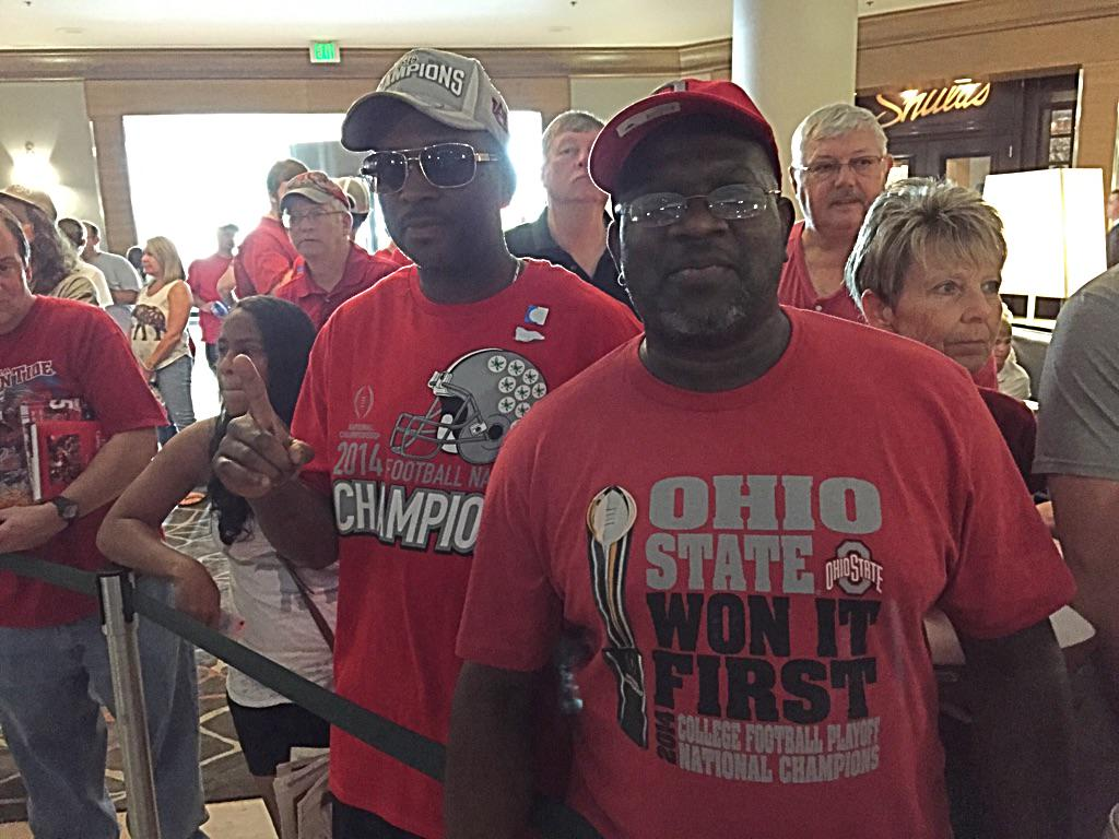 Ohio State fans show up at SEC media days to troll Alabama